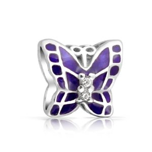 Pandora Butterfly With Purple Tanzanite Charm