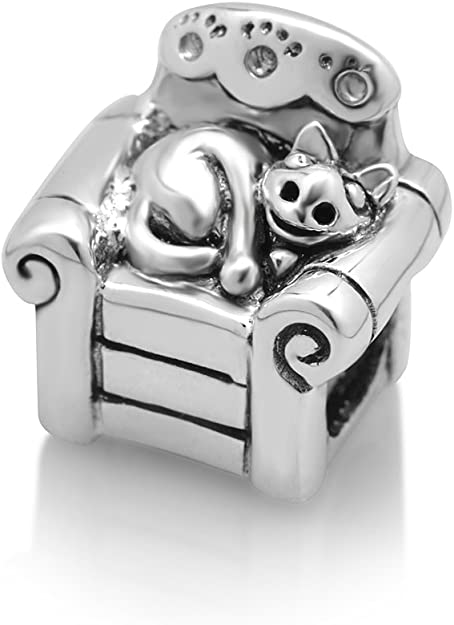 Pandora Cat and Sofa Charm