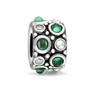Pandora Caviar CZ Emerald May Birthstone Charm
