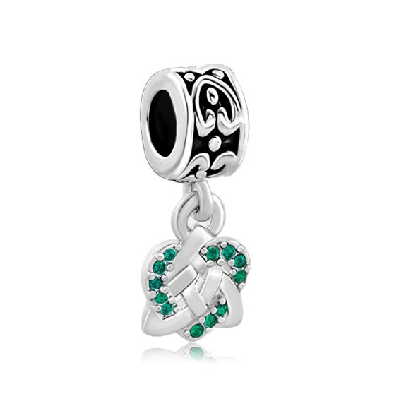 Pandora Celtic Knot Cross With Siam Crystals Charm