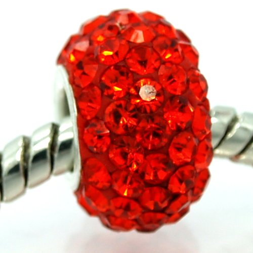 Pandora Cherry Red Crystal Pave July Birthstone Charm