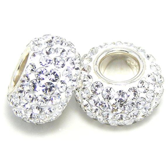 1bf47824d48ba Pandora Clear Swarovski Crystals April Birthstone Pair Charm | Buy ...