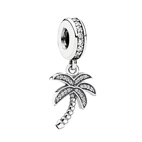 Pandora Clip-On Crystal Palm Tree Charm