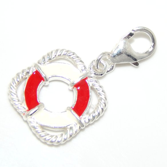 Pandora Clip On Earrings: Pandora Clip-On Life Saver Dangle Charm