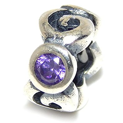 Pandora Cloud Purple CZ Stopper Charm