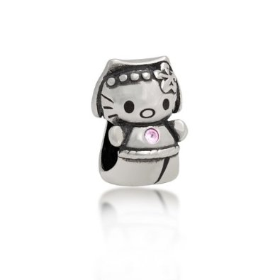 Pandora Cool Kitty With Pink CZ Charm