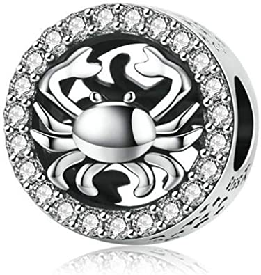Pandora Crab With Clear Crystals Charm