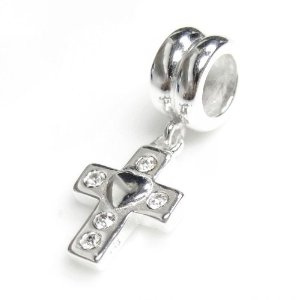 Pandora Cross With 5 Clear Crystals Charm