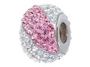 Pandora Crystal Charm With Pink Stripe