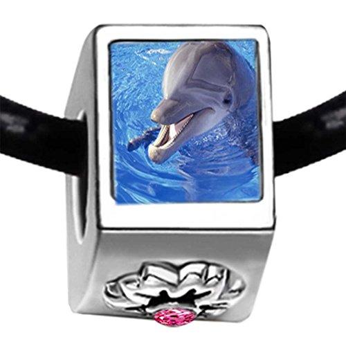 Pandora Crystal Dolphin With October Birthstone Charm
