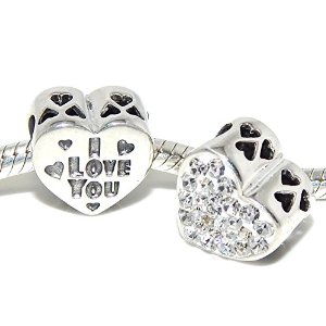 Pandora Cubic Love You Heart Charm