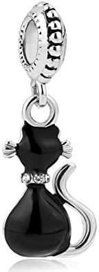 Pandora Curled Up Matte Black Cat Charm