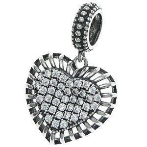 Pandora Dangle Clear Crystal Heart Charm