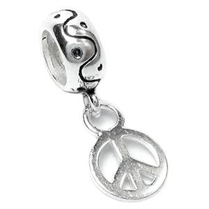 Pandora Dangle Peace Sign Bead
