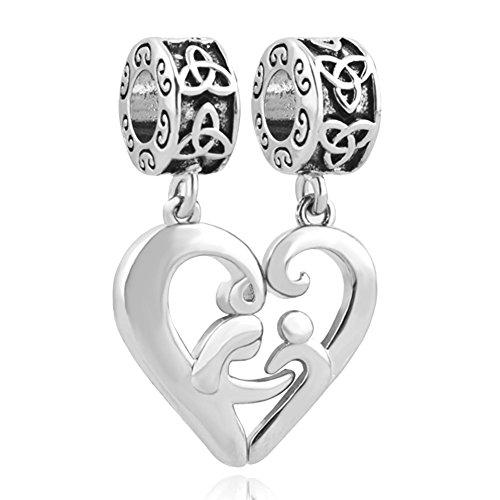 Pandora Daughter in Heart Dangle Charm