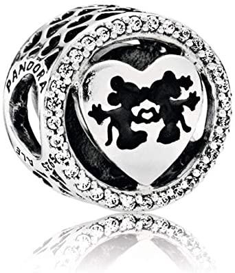 Pandora Disney Minnie And Mickey Kiss Heart Charm