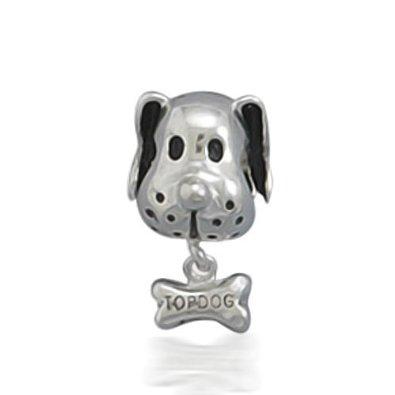 Pandora Dog Holding Bone Charm
