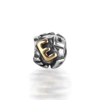 Pandora E Alphabet on Round Charm