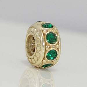Pandora Emerald Green Swarovski Crystals May Birthstone Charm