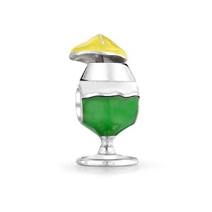 Pandora Enamel Crystal Clip On Frosty Drink Charm