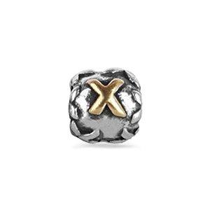 Pandora Engraved Dice Cube Letter X charm