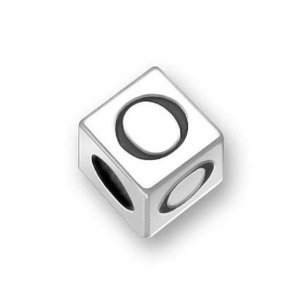 Pandora Engraved Dice Cubic Letter O Charm