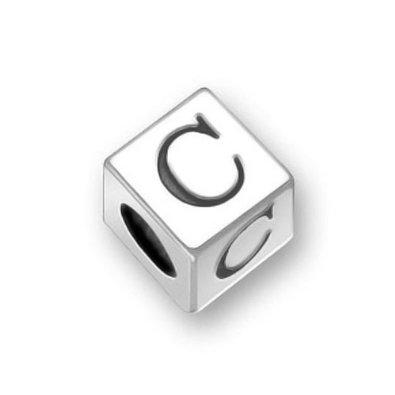 Pandora Engraved Dice Letter Cube C Charm