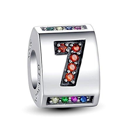 Pandora Engraved Number 7 Charm