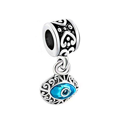 Pandora Eyes Blue Silver Charm