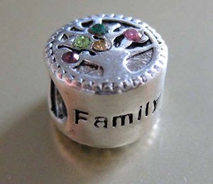 Pandora Family Tree of Love Charm With CZ Crystals