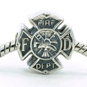 Pandora Fireman Badge Charm