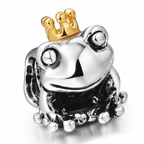Pandora Frog King With Crown Charm