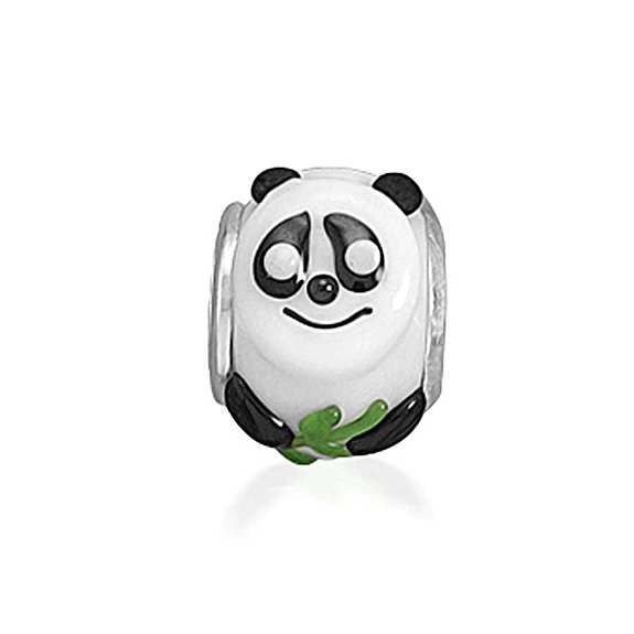 Pandora Giant Panda on Yellow Glass Charm