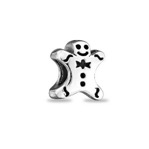 Pandora Gingerbread Boy Cookie Silver Authentic Christmas Charm
