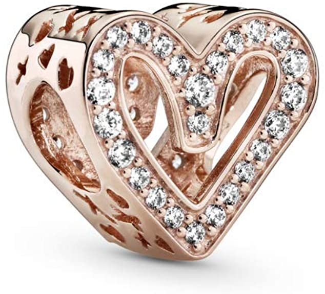 Pandora Gold Plated Bordered Hearts Charm