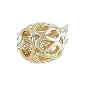 Pandora Gold Plated Gilded Cage Charm