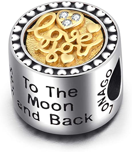 Pandora Gold Plated Lustrous I Love You Charm
