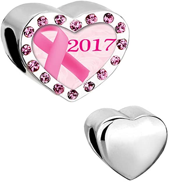 Pandora Golden Pink Awareness Ribbon Charm