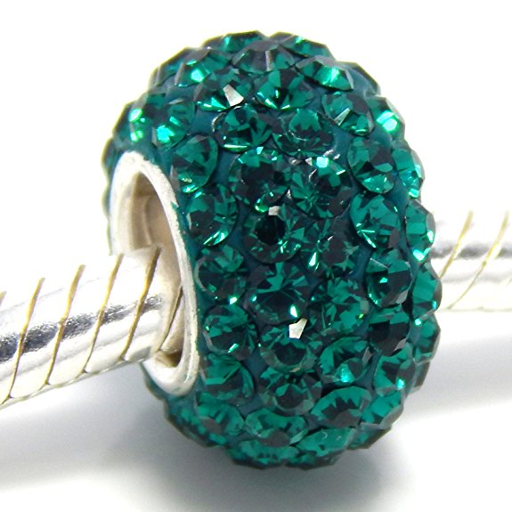 Pandora Green Emerald Swarovski Spacer Bead