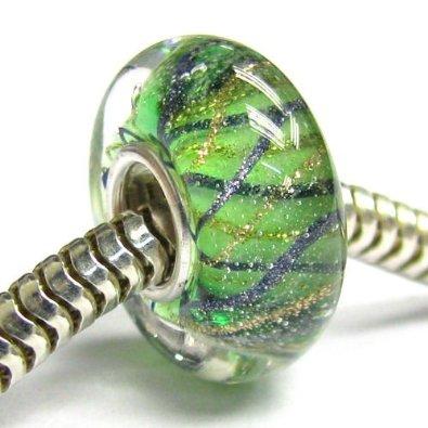 Pandora Green Gold Murano Charm