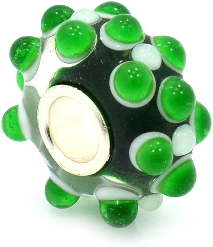 Pandora Green Turtle Black Glass Charm
