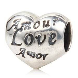 Pandora Heart Love Different Languages Charm