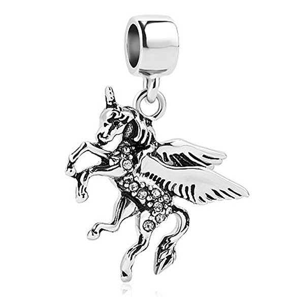 Pandora Horse Galloping Water Photo Charm