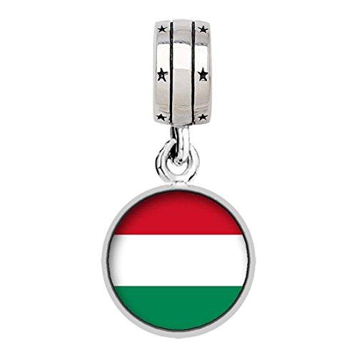 pandora charm italian flag