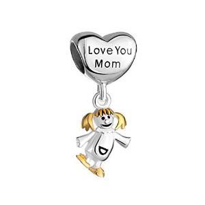 Pandora I Love Mom With Happy Girl Charm