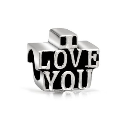 Pandora I Love You Block Letters Charm