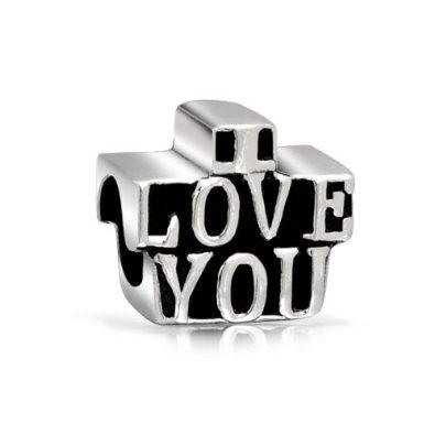 Pandora I Love You Block Letters Charm