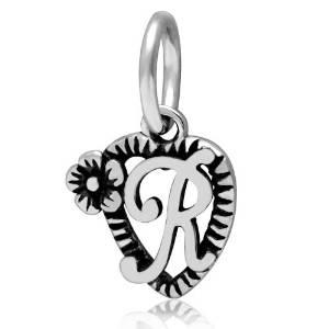 pandora initial letter r dangle charm
