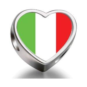 Pandora Italian Flag Photo Charm