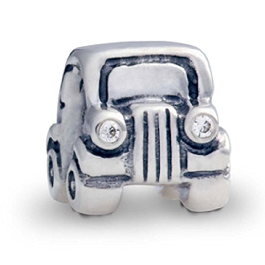 Pandora Jeep Mobile Car CZ Headlights Charm